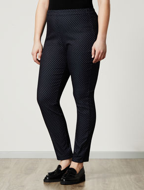 Polka-dot super-stretch trousers