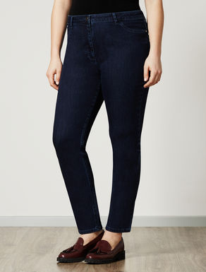 Leggings-fit trousers in denim fleece