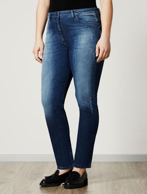 Stretch shaping-fit denim jeans