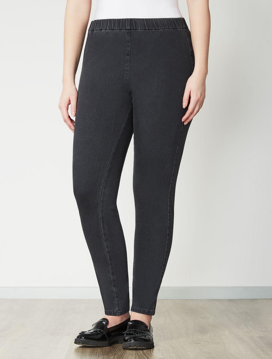 Jersey denim leggings