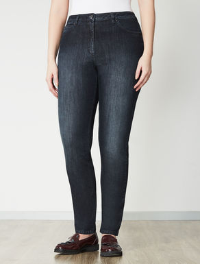 Stretch denim shaping jeans