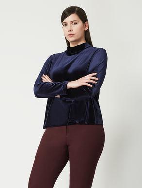 Stretch velvet jersey shirt tunic