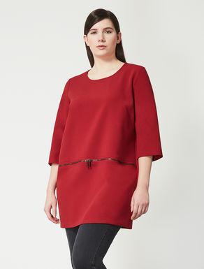 Double polyviscose shirt tunic