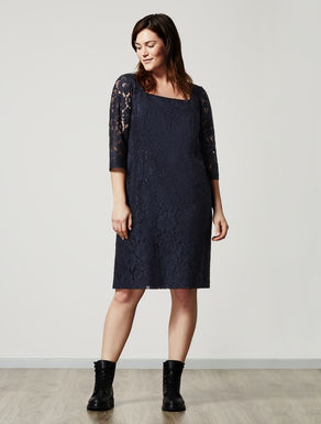 Macramé lace tube dress