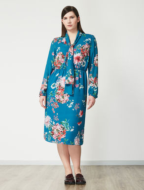Printed double georgette dress