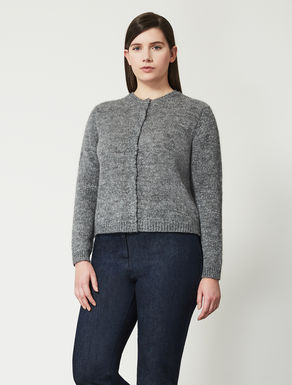Short lurex mohair cardigan