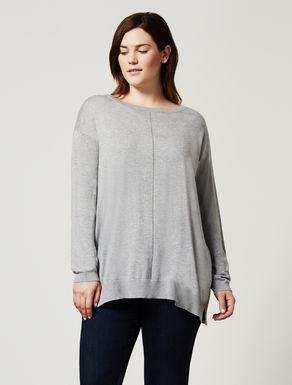 Silk blend oversize jumper