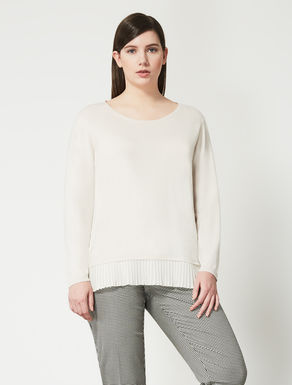 Viscose blend jumper with pleating