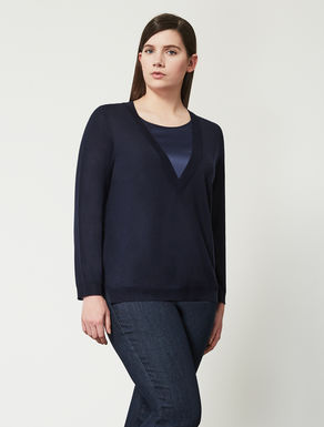 Wool blend jumper with insert