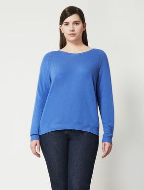 Viscose blend jumper with openwork