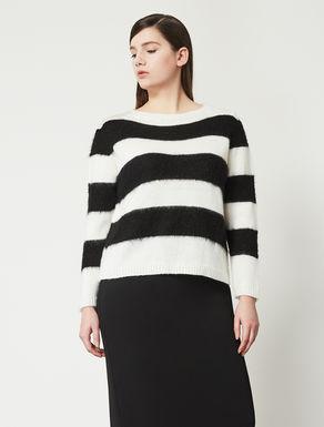 Streifenpullover aus Wollgemisch