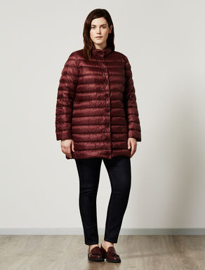 Opalescent nylon down jacket