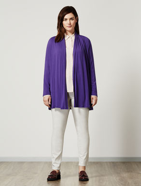 Stretch jersey cardigan