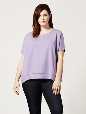 Stretch viscose and cotton sweatshirt