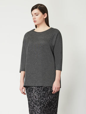 Jersey sweatshirt with insert