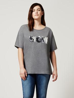 Besticktes T-Shirt aus Jerseystretch