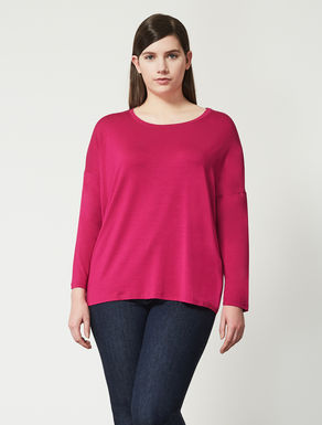 Oversize stretch viscose T-shirt