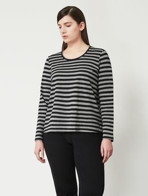 Boxy striped jersey T-shirt