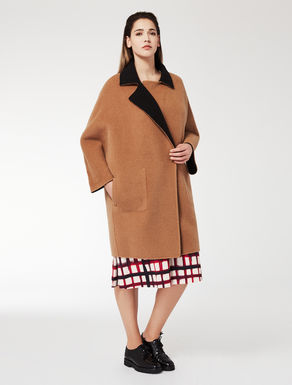 Double wool and alpaca coat