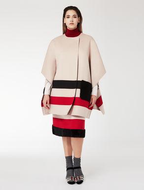 TSUMORI CHISATO Double wool cape