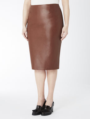 Faux nappa tube skirt