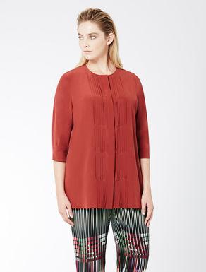 Crêpe de chine shirt with pleats