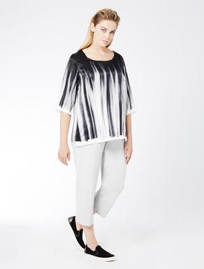 Printed silk satin blouse