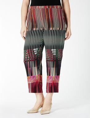 Printed crêpe de Chine trousers