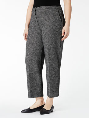 Yarn-dyed jersey trousers