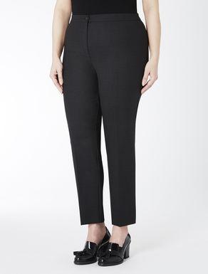 Double wool crêpe trousers