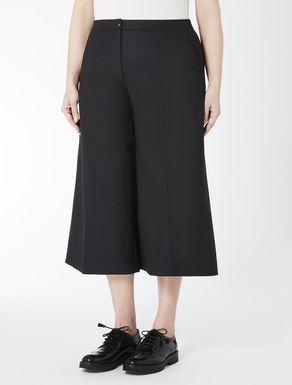 Double wool crêpe trousers