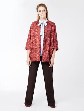 Multicoloured ribbon-knit jacket