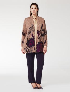 Floral jacquard cardigan