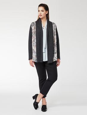 Silk twill and knit jacket