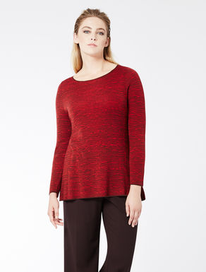 Two-tone jacquard wool jumper