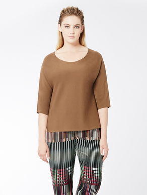 Viscose and nylon jumper
