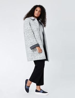 A-line woollen felt jacket