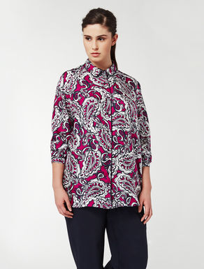 Silk shirt with cashmere print