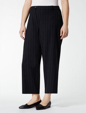 Stretch flannel chalk-stripe trousers