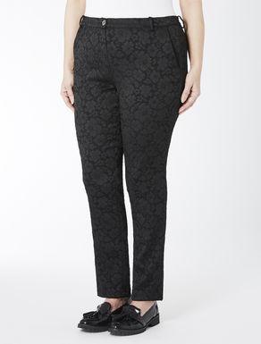 Slim-Fit-Hose aus elastischem Jacquard