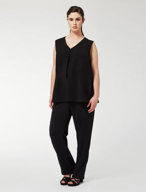 Double-effect triacetate jumpsuit