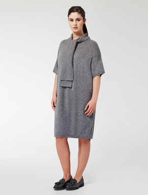 Wool and cashmere dress with scarf