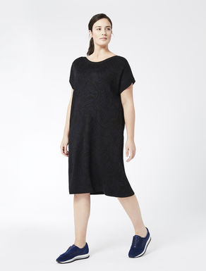 Jacquard wool and viscose dress