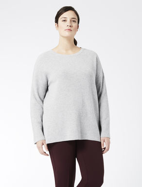 Ribbed lurex-effect jumper