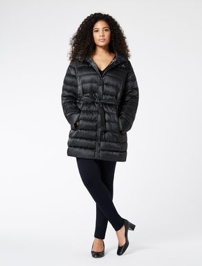 Reversible jacket in nylon satin