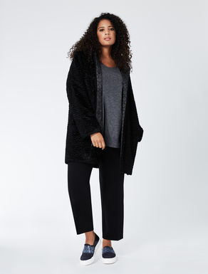 Reversible imitation astrakhan jacket