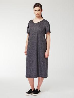 A-line mélange jersey dress