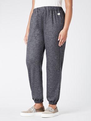 Wool jersey jogging trousers