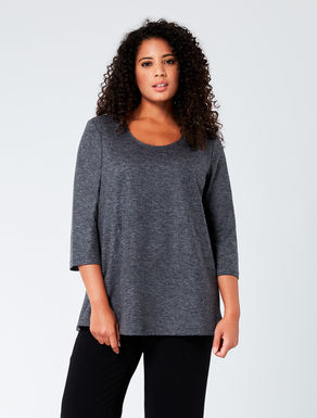A-line tunic in wool jersey