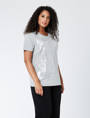 Embellished stretch jersey T-shirt